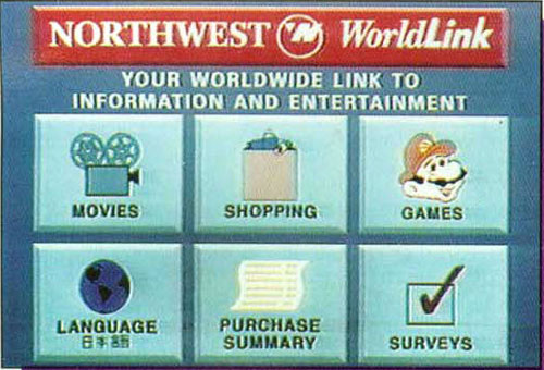 Northwest Airlines Nintendo Gateway System