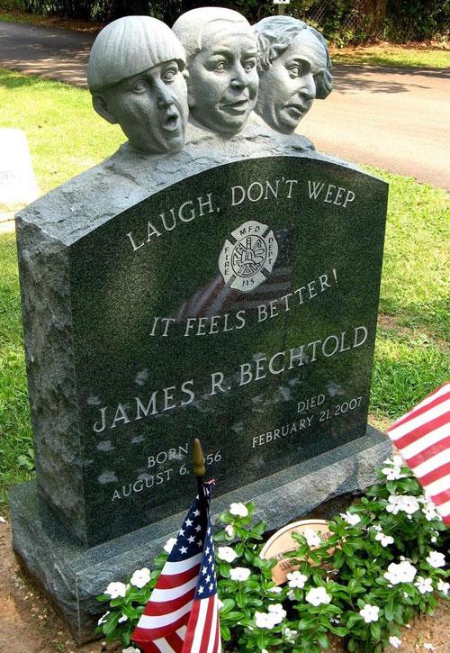 Three Stooges gravestone