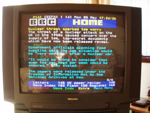 Ceefax system