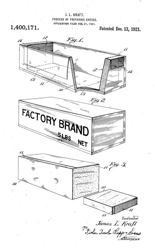 Cheese patent