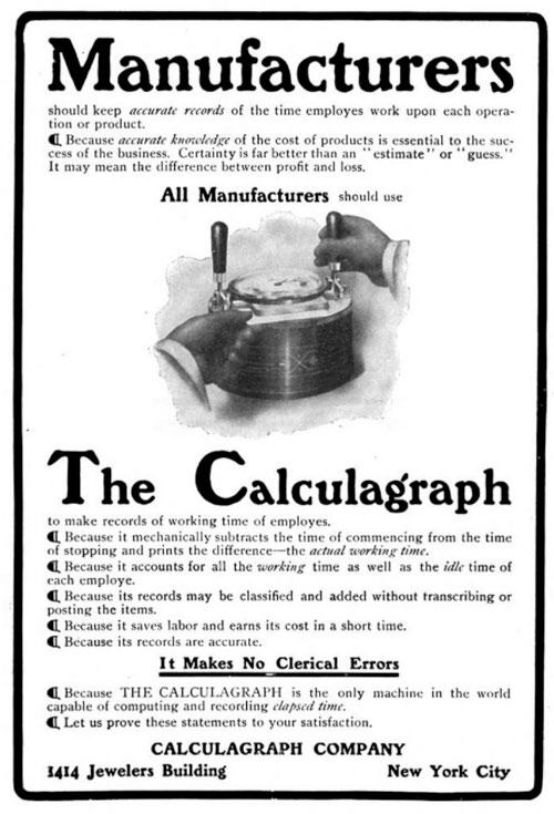 Calculagraph ad