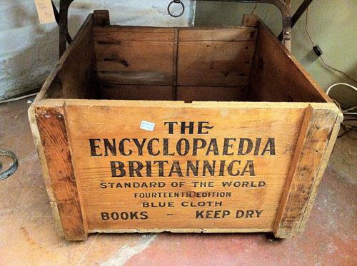 Encyclopaedia Britannica crate