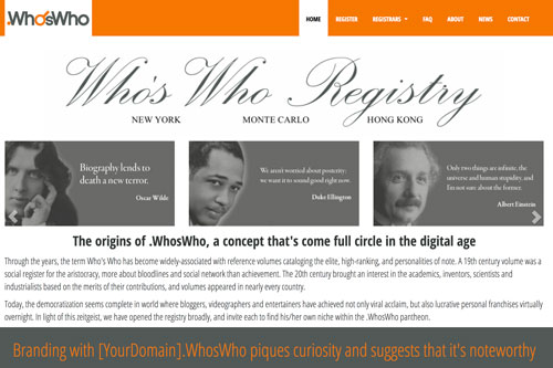 Who's Who Registry