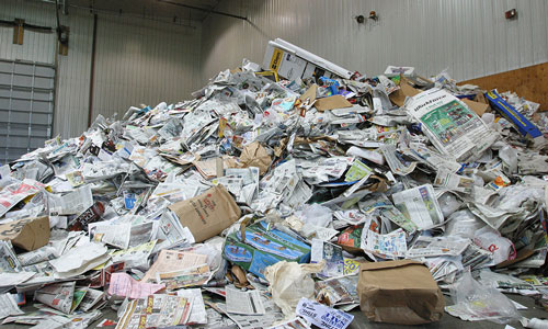 Paper recycling facility