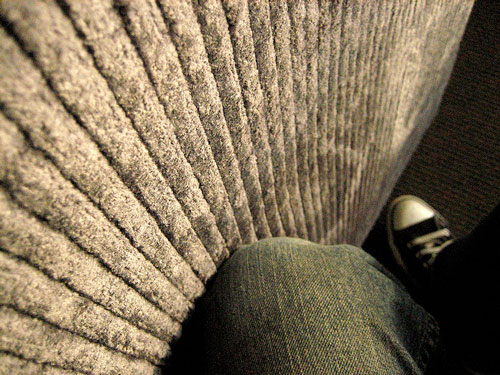 Corduroy couch