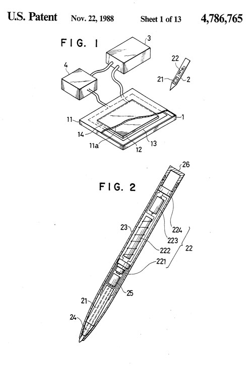 Wacom patent drawing