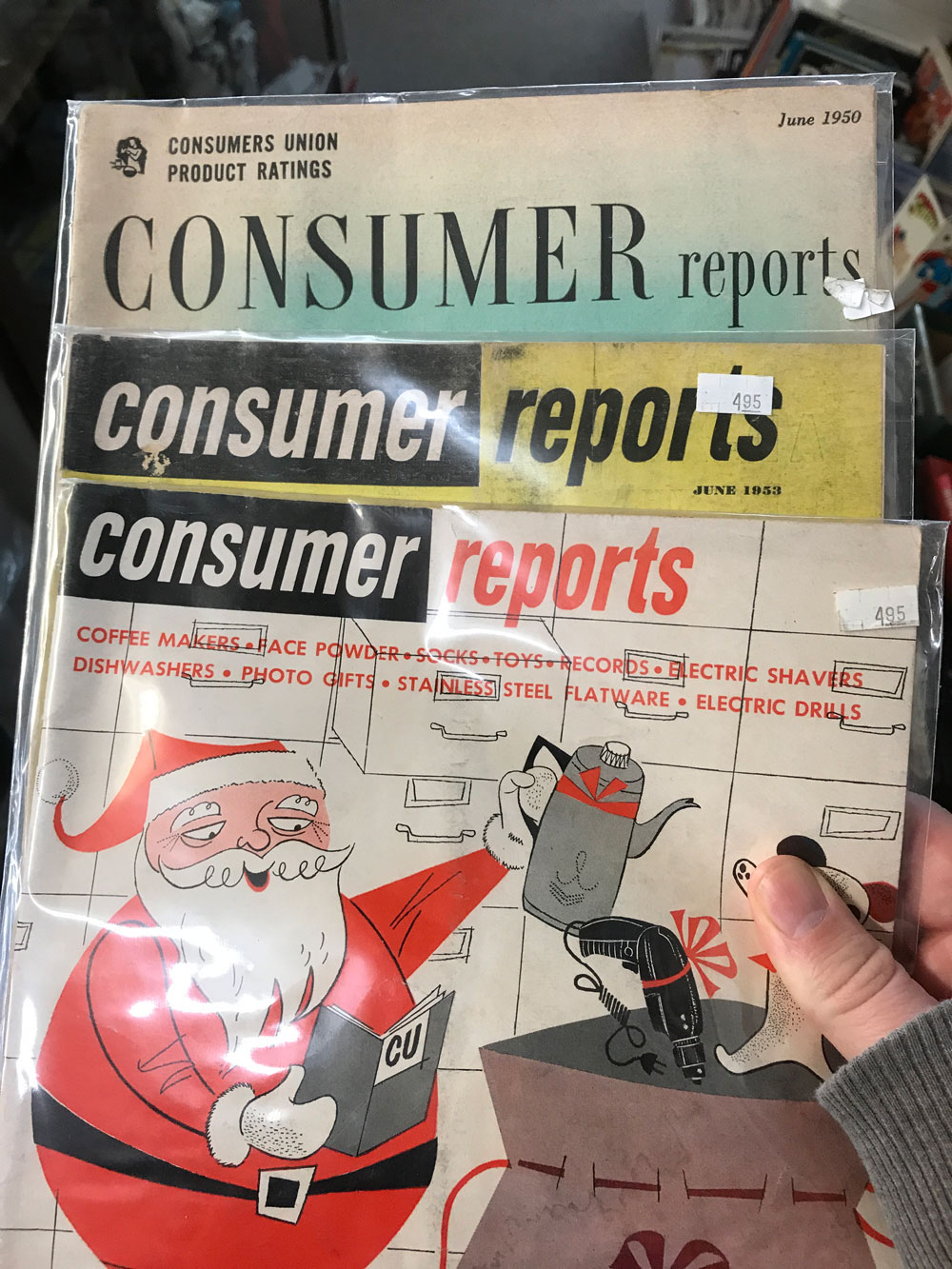 vintage Consumer Reports
