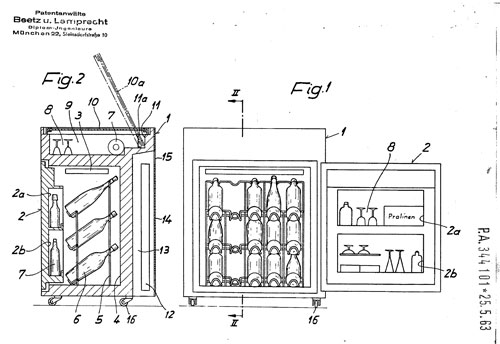 Minibar patent