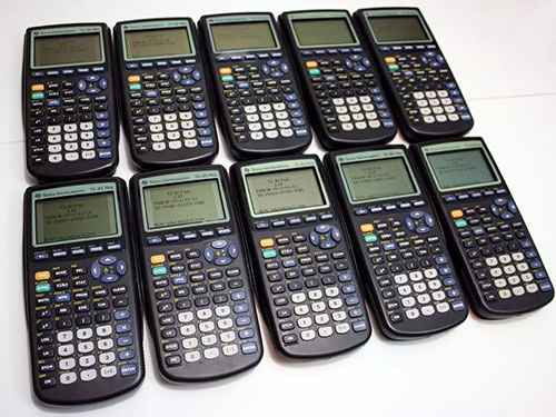 A bunch of TI-83s