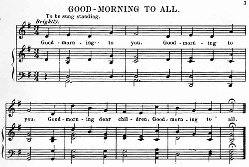 Good Morning to All music sheet