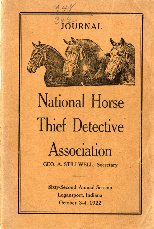 National Horse Thief Detective Association Journal 1922