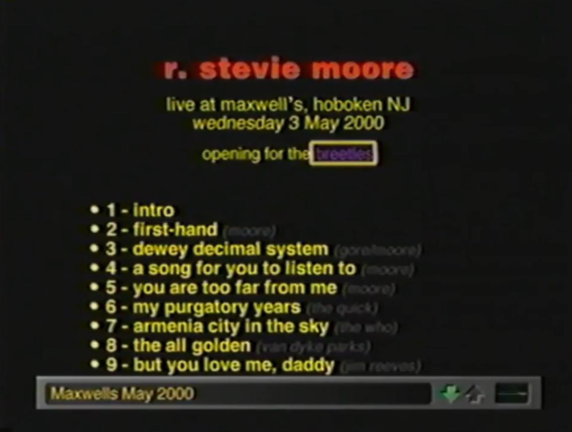 R. Stevie Moore website