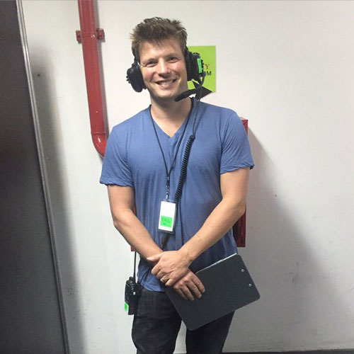 Phil Harvey of Coldplay