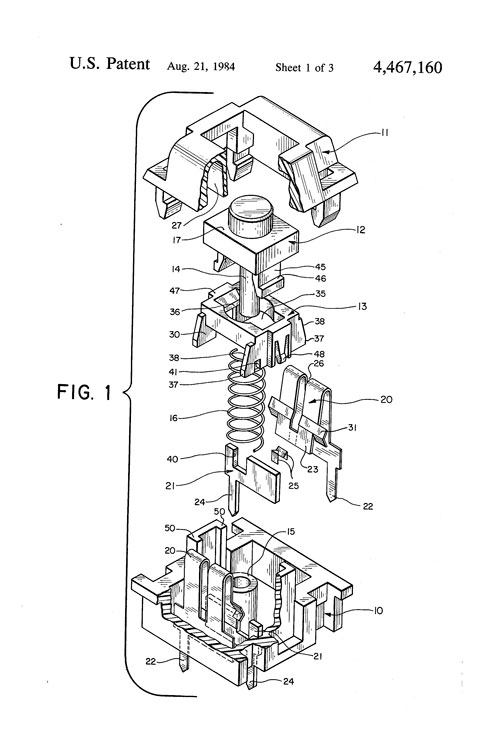 Cherry MX patent