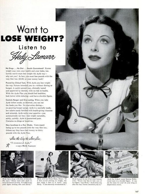 Hedy Lamarr Ayds ad
