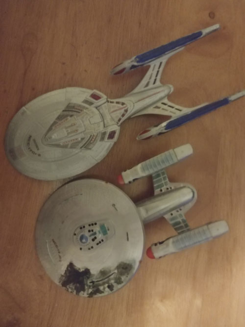 Star Trek scale models