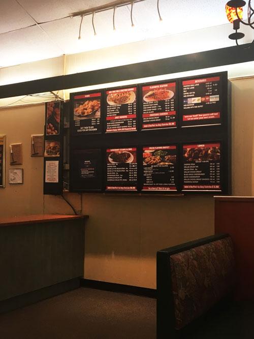Ponderosa menu board