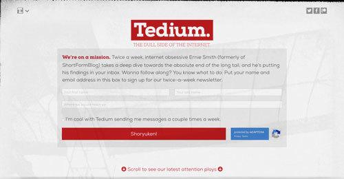 Tedium redesign
