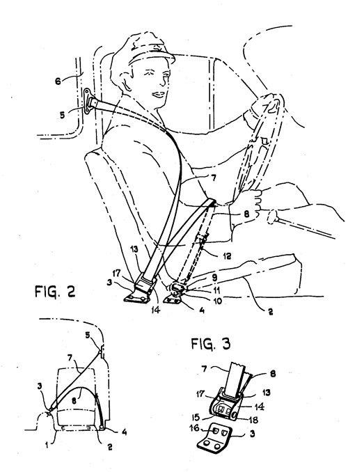 Three-Point Seat Belt Patent
