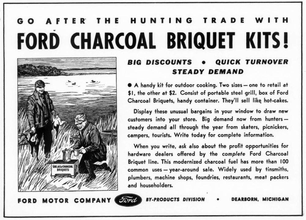 Charcoal Briquet Kit ad