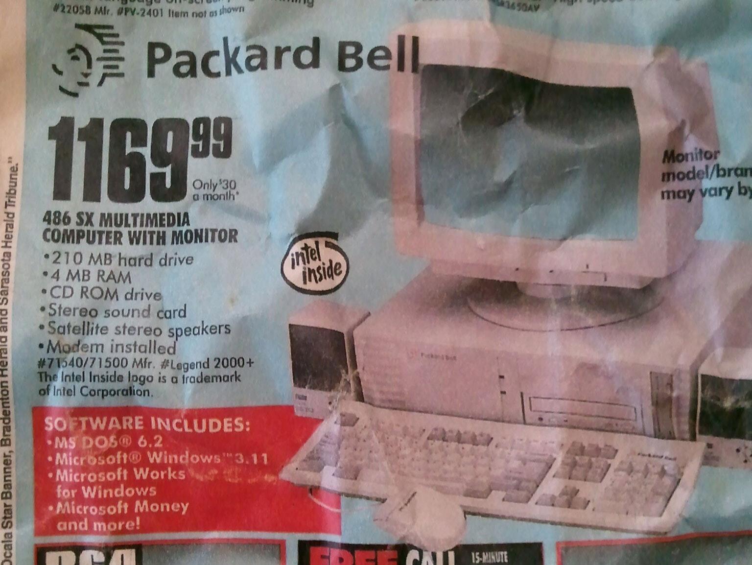 Montgomery Ward Packard Bell